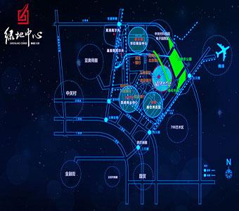 綠地中心交通圖